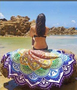 Bohemian Round Beach Shawl Bikini Cover Ups Beach Bikini Ups Sarongs Beachwear Chiffon Bath Towels Hippie Cover Towel Yoga Mat Cqfqi