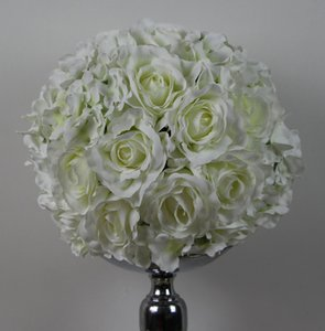 Spedizione gratuita rose e hydrangea 45 cm * 4 pz / lotto pomander rose ball wedding kissing fiore palla partito / decorazione della casa fiore