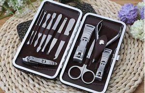 Nail Clipper Kit 12 in 1 set Nail Care Set باديكير مقص الملقط سكين مانيكير أدوات