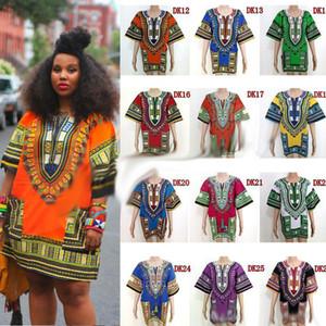 Africain Dashiki Robes Pour Femmes Hommes Vêtements Africains hip hop T Shirt Caftan Vintage De La Mode Tribal Mexicain Top Vêtements Ethniques