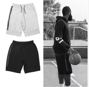 Nouveaux shorts de basket-ball Shorts en polaire Shorts de sport Zip pocket Pantalon de sport Pantalon décontracté Gris Noir S-XL