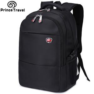 """zaino nero nylon impermeabile zaino maschio all'ingrosso di alta qualità di grandi dimensioni 15,6 17"""" portafoglio laptop bag scuola per gli adolescenti"""