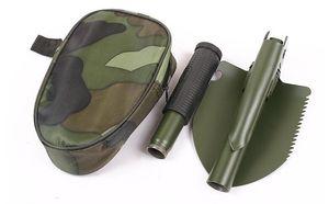 Livraison gratuite 100 pcs Militaire Pliant Multifonctionnel Pelle Camping En Plein Air Pelle Mini Survie Truelle Outils avec Bêche de Neige