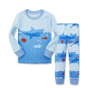 Fabrika doğrudan satış tarzı yün kamgarn penye pamuk sonbahar pantsuit çocuk pamuklu iç çamaşırı setleri karton çocuklar pijama bahar k ...