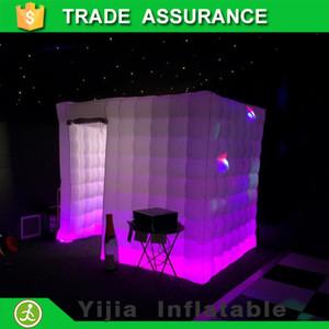 Cabina di foto di nozze gonfiabile photobooth di trasporto all'ingrosso-libero luci principali