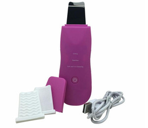 Nuovo Ultrasonic Skin Cleaner Portable Ultrasonic Skin Scrubber Ion +/- Beauty Machine Ultrasonico Facial Massager Cura del viso