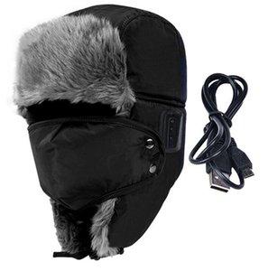 Gros-Hiver Sport en plein air Doux Smart Bluetooth V3.0 Casque d'écouteur, Haut-Parleur Mic, Épaissir la Fourrure, Handfree Casque Bomber Chapeaux, Plus Chaud
