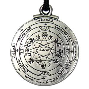 Punk Amulet kolye Kolye Tılsım Süleyman Pentagramı Mühür Kolye Kolye Hermetik Enochian Kabala Pagan Wiccan Takı sıcak satış