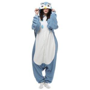 새로운 공장 브랜드 핫 세일즈맨 올빼미 잠옷 유니섹스 잠옷 애호가 Onesie Pajamas Night Owl Cosplay Dress 만화 동물 Owl Jumpsuit
