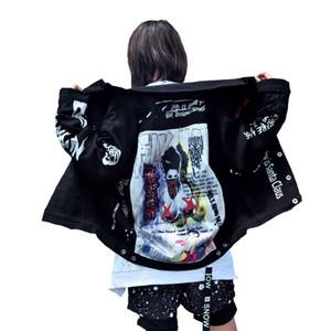 Giacche da uomo 2018 Autunno Abbigliamento uomo Patch Disegni Giacca di jeans High Street Hip Hop Punk Vintage Graffiti Cowboy Coat moto Outwear