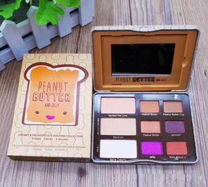 Nueva Llegada de Maquillaje Cara de Mantequilla de Cacahuete Paleta de Sombra de Ojos paleta de 9 colores paleta de sombras de ojos envío de DHL
