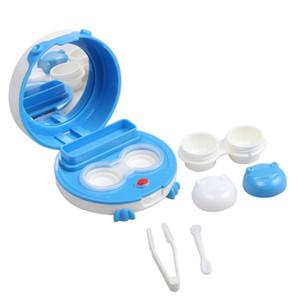 Lentes de contacto Limpiador ultrasónico con espejo y pinzas Limpieza rápida Lentes de contacto Máquina de limpieza de lentes