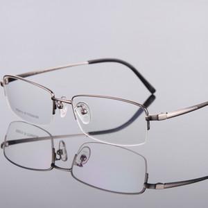 الجملة نصف حافة النظارات التيتانيوم إطار نظارات للرجال قصر النظر إطار نظارات إطار بصري RS-9015 حرية الملاحة
