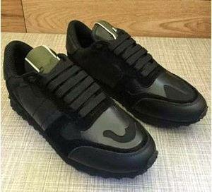 Taglia 35-46 scarpe casual da donna / uomo in vera pelle di camoscio lace up paio di scarpe stelle rivetti unisex scarpe basse