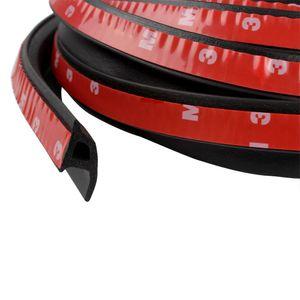 Tira de la puerta del coche tipo P Sellado tira de goma Car Styling impermeable con 3 M adhesivos adhesivos de doble cara Aislamiento de sonido del coche