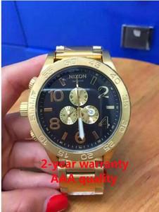 Frete grátis New CHRONO NIXO 51-30 Chrono Todo o Ouro Chronograph Mens Watch A083 A083-011 Relógio