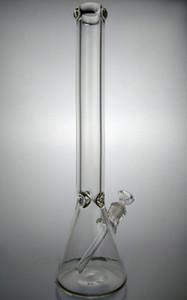 20 pollici bicchiere di vetro Bong 9mm spessi piattaforme petrolifere 2 parti / lotto con la radura diffusore Downtem 14mm maschio di vetro comune Bowl Bong Pipes