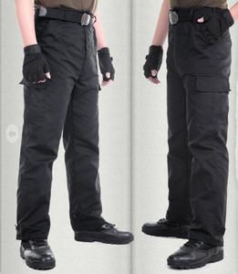 (una pieza) NUEVO 2016 Primavera Al Aire Libre Otoño Comando Hombres Pantalones de Combate Negros Tácticas Monos de Carga Militar Guardia de Seguridad Pantalones