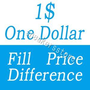 Um dólar pagamento Fill Preço Diferença para DHL EMS custo extra taxa diferente de expedição diferent etc