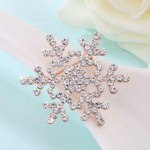Branco de Cristal Strass Ouro e Prata Banhado A Floco De Neve Broches Moda Costume Pin Broche de presente de Natal jóias DHL frete grátis