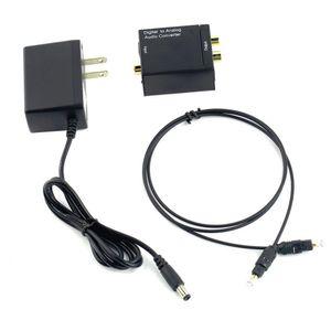 DM-HG44 digitale ottico Toslink coassiale segnale per convertitore audio analogico adattatore con cavo ottico Fible DC 2A Alimentazione UE spina degli Stati Uniti