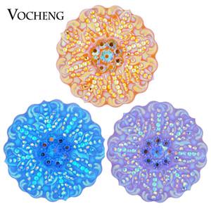 NOOSA Ingwer Snap Blume Bling Charme 6 Farben 18mm Harz Snap Schmuck VOCHENG Vn-1292