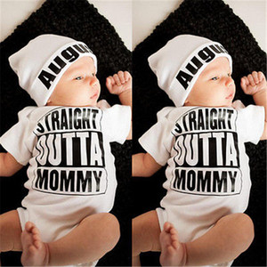 Wholesale- Casual Hot sale White Newborn Baby Girl Boy Clothes Bodysuit Romper Jumpsuit Outfits One-pieces 0-18M Baby set