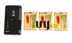 3 قطع BL-4D BL 4D BL4D 2680mAh بطارية بديلة للذهب + شاحن الجدار العالمي لجهاز Nokia N97mini N8 E5 E7 702T T7-00 N5 808 702T T7