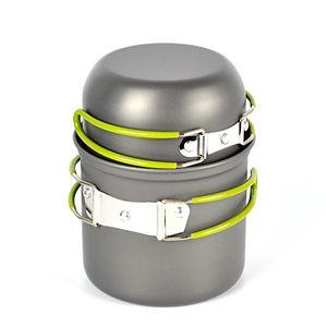 2шт/набор портативный алюминиевый кемпинг горшок устанавливает пот Пан чаша посуда мини открытый туризм приготовления пищи комплект