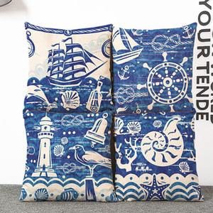 Nuovo per il blu oceano vento vela fresca conchiglia cuscino cuscino a casa