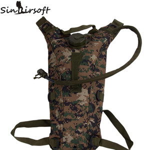 Sinairsoft 2.5L Hydration Outdoor Camping Wandern Tactical Water Bag Pouch Rucksack mit Blase Radfahren Fashing Outdoor-Tasche Assault Backpack