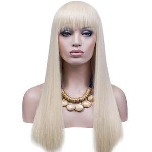 Perruque Meilleure Qualité # 60 Platine Blonde 150% Densité Pleine Dentelle Perruque Cheveux Humains Vierge Brésilienne 100 Sans Colle Full Lace Wig soyeux Droite Kabell