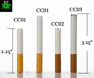 China al por mayor de grado alimenticio barato cigarrillos de cerámica Hitters chispa café amarillo filtro de color pipa de fumar Metal aluminio DHL libre