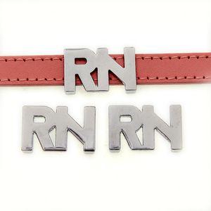 Toptan mektup RN çinko alaşım 10mm kaymak Charms DIY Aksesuarları Fit 10mm Pet Yaka bileklik SL514