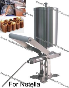 Livraison Gratuite Utilisation Commerciale En Acier Inoxydable 2.3L Manuel Espagnole Churrera Churros Nutella Remplissage Machine De Remplissage