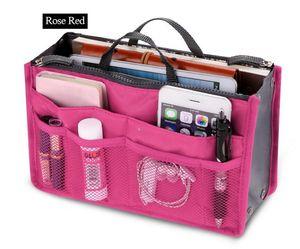 Klare kompakte tragbare Frauen Make-up Veranstalter Tasche Mädchen Kosmetiktasche Kulturreise Kits Lagerung Handtasche Spur