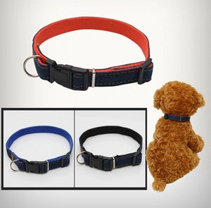 Dog Harness Collar Chumbo Jean Denim Pet Dog Ajustável Espessamento Resistente Dog Neck Strap Collar Leashes
