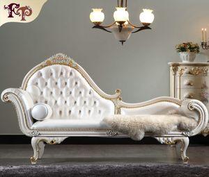 Versailles Chaise Lounge Итальянская классическая мебель, европейская классическая антикварная мебель для спальни роскошный шезлонг из массива дерева Бесплатная доставка