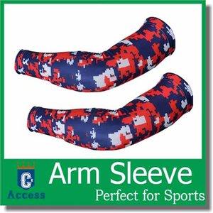 2017 atacado nova luva do braço De Beisebol Stitches camo baseball Outdoor Sport Stretch manga braço de compressão