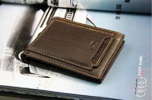 Exportações Novo design de marca mens bolsas de luxo carteira de couro cruzado de alta qualidade carteiras para homens frete grátis 77