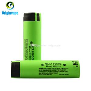 100% Auténtico 3400 mah 18650 Batería NCR18650B León Batería Recargable de Litio Batería Para Cigarrillo E / Luz de Flash Fedex Envío Gratis