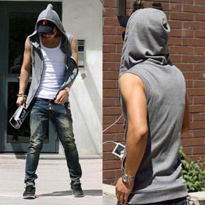 Wholesale-Hoodies Cotton Tracksuit Mens Sport Suit Gym Hoodies And Sweatshirts Sleeveless Hoodie Assassins Creed Moleton # A4913