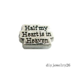 10pcs la moitié de mon coeur de coeur Floating Charms Pour mémoire Locket Free Ship FC1198