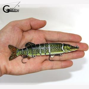 1 pz Nuovo 2016 8 sezioni Fishing Lure 12.5 cm / 20g Swimbait esche da pesca Hook Manovella esca Slow Fishing Tackle