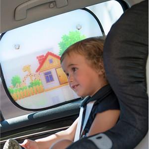 2 unids Universal Car Window Sun shades Sombrillas para bebés Bloques de rayos UV dañinos Sun Glare Heat