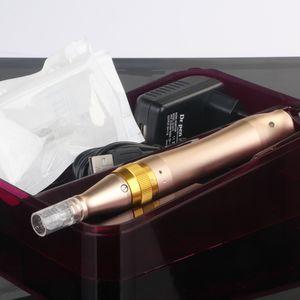 Dr pen عالية السرعة Derma Pen قابلة للشحن Derma Rollers Dermastamp uesd with Hyaluronic Youth Serum