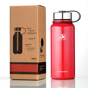 جدار مزدوج الفولاذ المقاوم للصدأ زجاجة ماء معزول فراغ زجاجة عالية الإنارة زجاجة ماء 500ML كأس فراغ