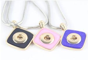 Top vendita rombo 3 colori fai da te fatti a mano 12mm collana pendente in lega 12mm pezzi NOOSA bottoni a pressione gioielli Holand pulsante a scatto ciondolo collana