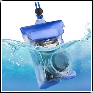 PVC Transparente Impermeable Bolsa Submarino Bolsa Seco Paquete Cubierta de caja con cajas con lente convexo para cámara digital