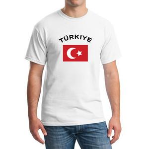 Турция Футбольные Болельщики Развеселить Футболки Кубок Европы Мода O Воротник Белый Цвет Национальный Флаг Футбол Спортивные Футболки Для Мужчин